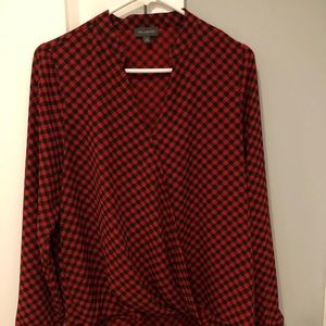 Women's Limited Cross over high low blouse